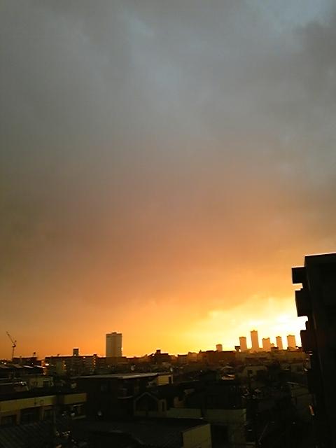 土砂降りの翌日ほどよく晴れる